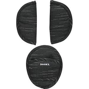 Dooky Universel Pads Housse de Ceinture & Protège-Ceinture pour Siège Bébé, Poussette & Siège Auto (Matrix, pour Ceinture 3 & 5 points, Groupe d'âge 0+, pour la plupart des Marques), Noir