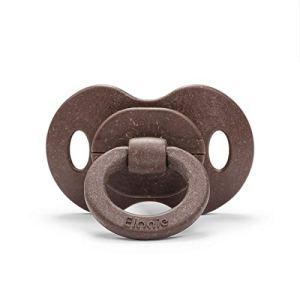 Elodie Details Tétine en Bambou – Sucette en Latex à partir de 3 mois – Physiologique – Chocolate, Marron