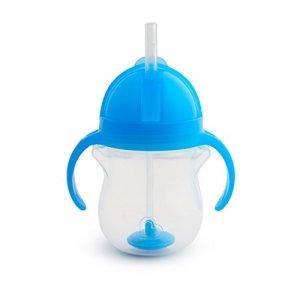 Munchkin Tasse d'Apprentissage à Paille Fléxible Tip/Sip – Bleu – 207 ml