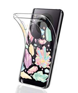 Oihxse Mode Motif de Diamant Case Compatible pour Xiaomi Redmi 5 Plus Coque Silicone Ultra Mince Transparent Souple Bumper Crystal Clair Anti-Rayures Antichoc Protection Cover,Diamant 8