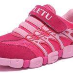 PPXID Chaussures basses à lacets confortables pour bébé, garçon, fille, loisirs, extérieur, école, sport – Rose – rose bonbon, 23 EU