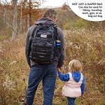 Sac à langer Sac à dos pour papa – Sac à dos bébé – Dad Gear – Accessoires bébé pour homme Camouflage foncé. Large
