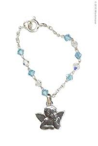 Wiedemann taufarmband Swarovski Perles et Anges de la Madone Sixtine, Cire, Bleu, 5, 0X 1, 00X cm, 1unités