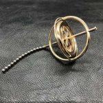 WNTHBJ Gyroscope, Rotation d'équilibrage de Jouets Gyroscope, métal précision gyroscopique Pression de reliefs, Tourne Haut Doigts Magiques, et Tourne pour Une variété de façons,C