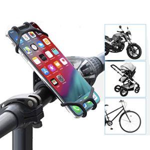 WXGZS Vélo Support De Téléphone Mobile, Téléphone Mobile Amovible 360 ° De Rotation Adapté pour 7.12 Pouces avec Une Base De Guidon De Silicone Universel Réglable