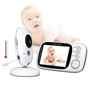 ZYEZI Moniteur vidéo pour bébé, écran LCD à distance sans fil Vision nocturne bidirectionnelle, berceuses longue portée