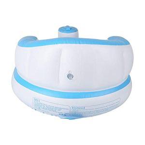 Canapé gonflable pour bébé, beau canapé à pompe intégré confortable et doux, pour ne pas blesser les os rapidement gonflé pour la piscine à la maison(blue)