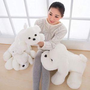 CPFYZH 35-55Cm Mignon Chien Blanc Peluche Toyssoft Peluche poupée pour Enfants cadeaux-55Cm