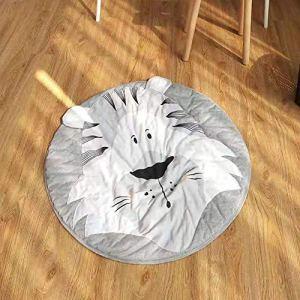 HilMe Tapis de jeu et décoratif pour enfants – Lavable – Doux et pratique – Motif tigre – Motif papillons, Pas de zéro, Voir image, 2