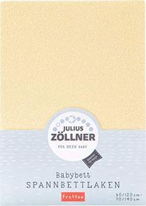 Julius Zöllner 8300149740 Drap-Housse en Tissu éponge pour lit d'enfant 60 x 120 cm / 70 x 140 cm Couleur Banana