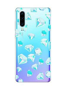 Oihxse Mode Motif de Diamant Case Compatible pour Huawei P40 Coque Silicone Ultra Mince Transparent Souple Bumper Crystal Clair Anti-Rayures Antichoc Protection Cover,Diamant 2