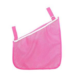 WZGGZWGG Sac de rangement en filet pour poussette avec filet à suspendre pour ranger les couches et accessoires pour la maison en maille polyester (couleur : rose, taille : libre)