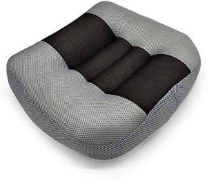 ZIJIAGE Pad Siège d'auto, Portable Mesh Respirant Surélévation Taille Boost Mat de Bureau Idéal pour Voiture, Maison,Noir