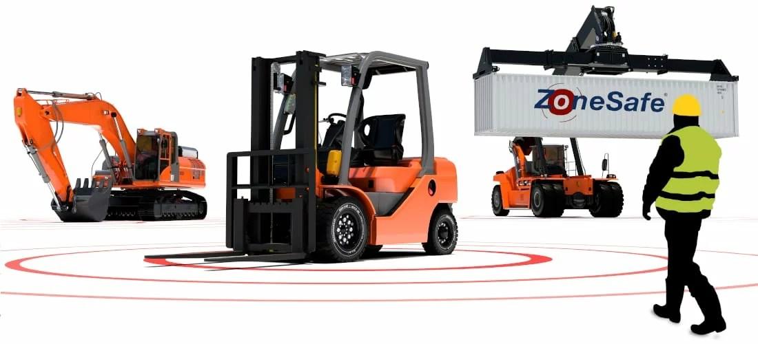 ZoneSafe Forklift Excavator Reach Stacker
