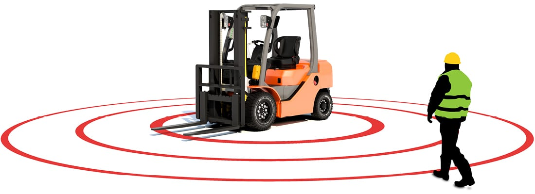 Pedestrian Detection On Forklift Trucks With Zonesafe Systems