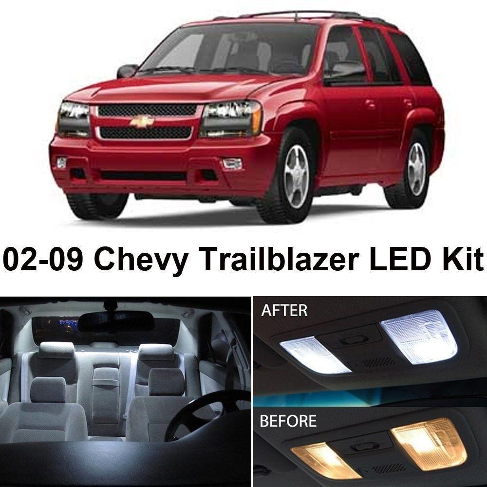hight resolution of zone tech chevy trailblazer 2002 2009 white led interior lights kit 5 pieces