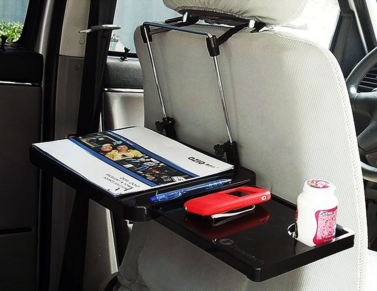 Auto Accessories  Headlight bulbs  Car Gifts Black Steering Wheel and Back Seat Tray With