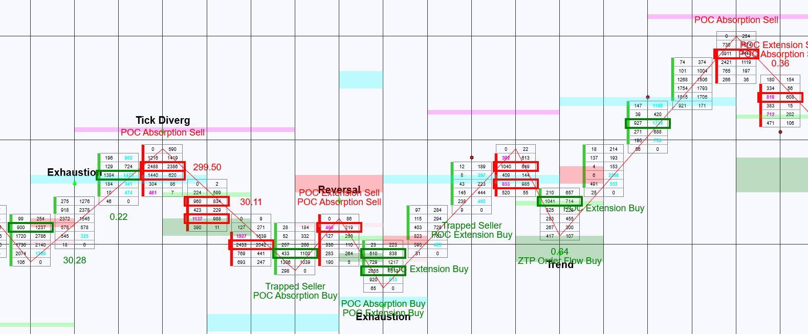 The ZoneTraderPro Order Flow Indicator suite identifies