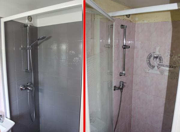 cheap rsinence color salle de bain avant aprs with resinence pas cher. Black Bedroom Furniture Sets. Home Design Ideas