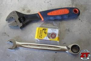 Changement de joint pour réparer une fuite