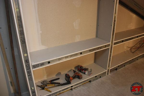 brico r aliser une biblioth que en placo sur mesure. Black Bedroom Furniture Sets. Home Design Ideas