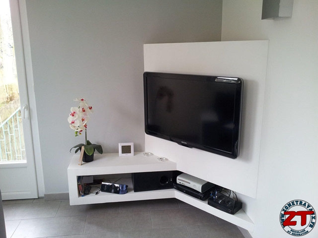 tuto creation d un meuble tv en placo