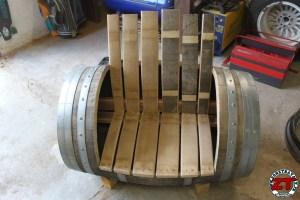 Chaise barrique fut etape 2