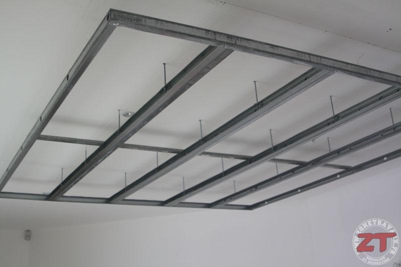 Brico cr ation d un faux plafond avec ruban led et spots for Rail faux plafond suspendu