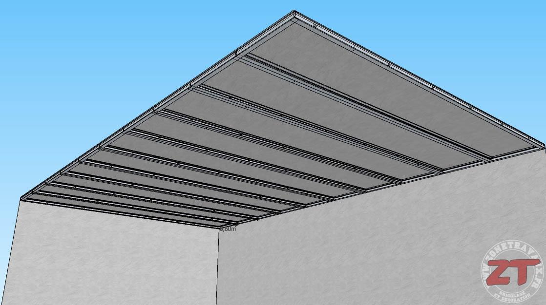 le faux plafond autoportant en details