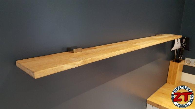 installer des etageres en bois massif