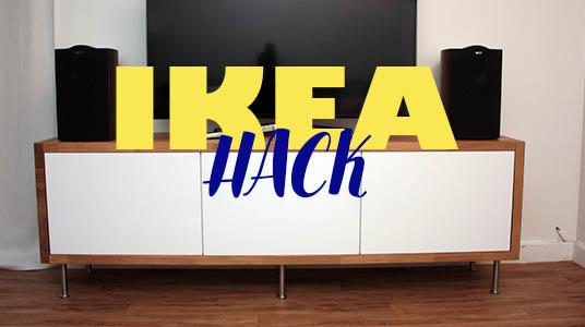 ikea hack un meuble tv avec des