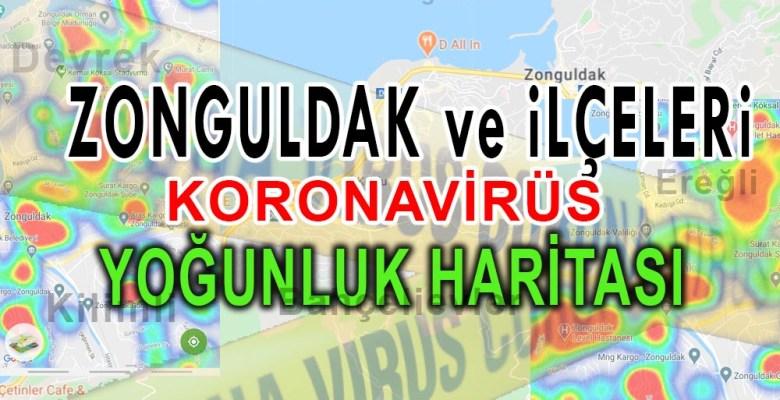 Zonguldak Koronavirüs Yoğunluk Haritası