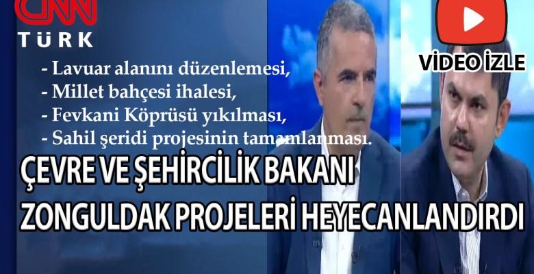 Bakan Kurum CNNTURK'te Zonguldak Projelerini Anlattı