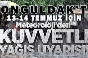 Meteoroloji Zonguldak İçin Uyarı Yayınladı