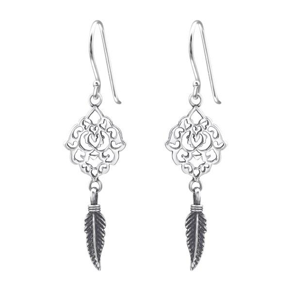 Antiek zilveren oorhangers filigraan