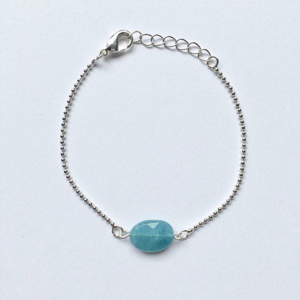 Armband met jade zilver