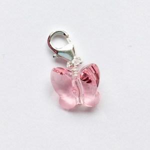 Ketting hanger met Swarovski kristal roze