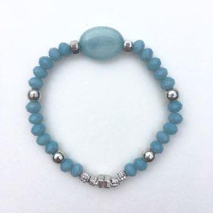 Kralen armband steen blauw