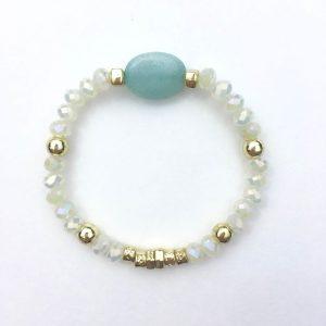 Kralen armband steen groen