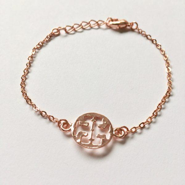 Metalen armband fijn rosé goudkleurig