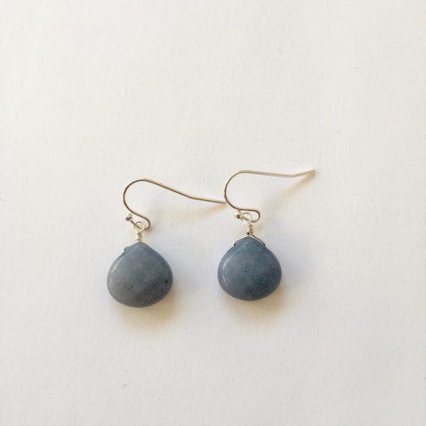 Oorbellen met edelstenen zilver, blauw