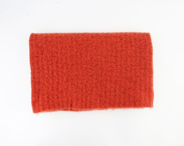 Warme sjaal oranje grote sjaal