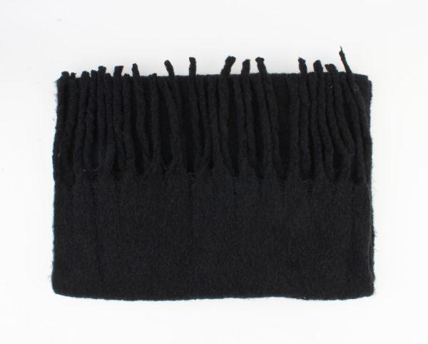 Warme zachte sjaal zwart
