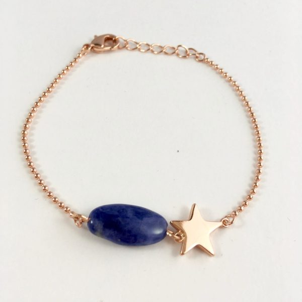 armband lapis lazuli met ster