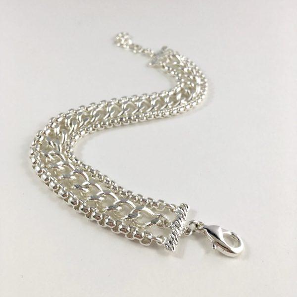 brede armband zilver