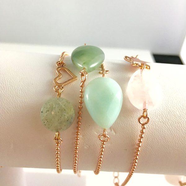 fijne armbandjes jade rozenkwarts armband met edelstenen