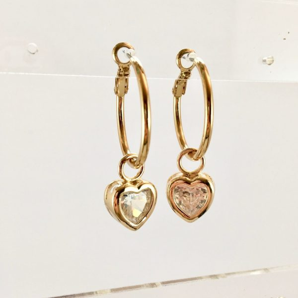 gouden oorringen met hart