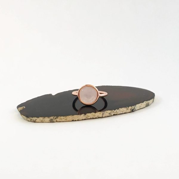 ring met rozenkwarts rose goud