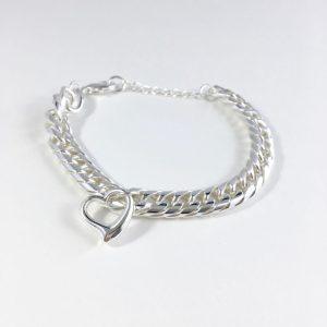 schakelarmband zilver