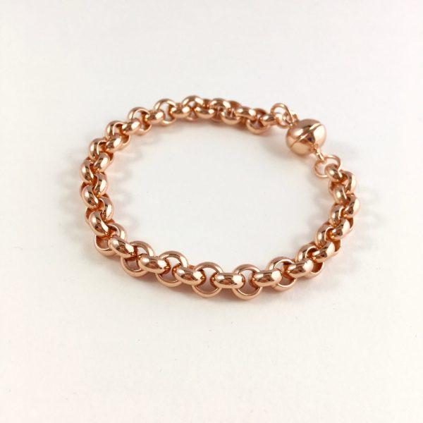 statement armband rose goud